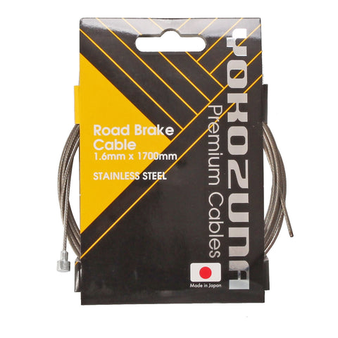 Yokozuna Brake Cable, Shimano Road-1.6mm Stainless - Each