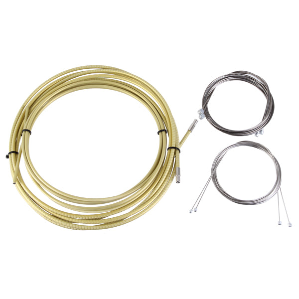 Yokozuna Reaction Cable/Casing Kit, Der/Brake, Rd/Mtn - Gold
