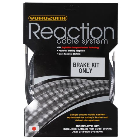 Yokozuna Reaction Brake Cable/Casing Kit, Rd/Mtn - Black