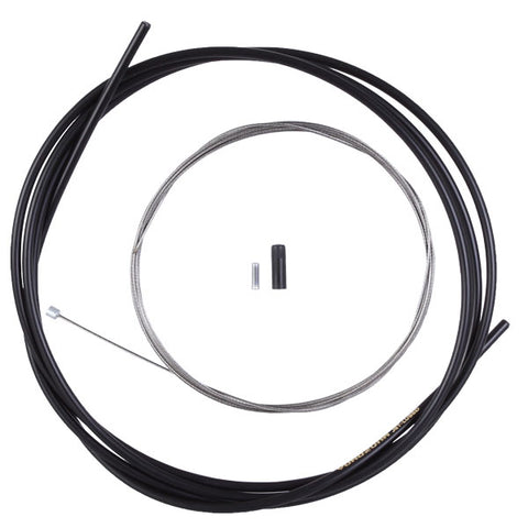 Yokozuna Premium 1x Cable/Casing Kit, 4mm/1.2mm - R Set Blk
