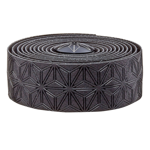 Supacaz Super Sticky Kush handlebar tape, black w/blk plugs