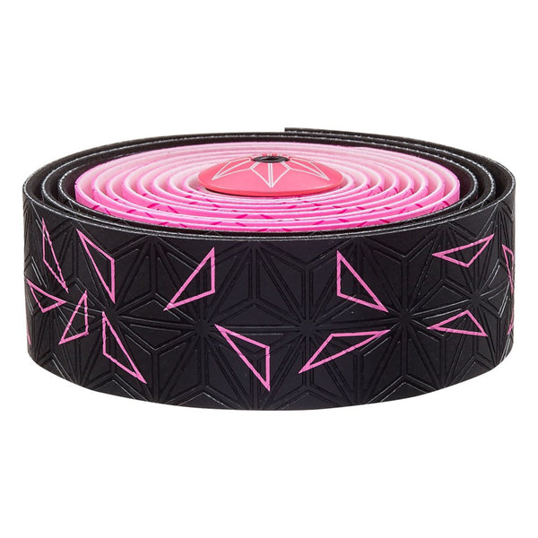 Supacaz Super Sticky Kush bar tape, Starfade black and pink