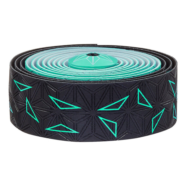 Supacaz Super Sticky Kush bar tape, Starfade black and celeste