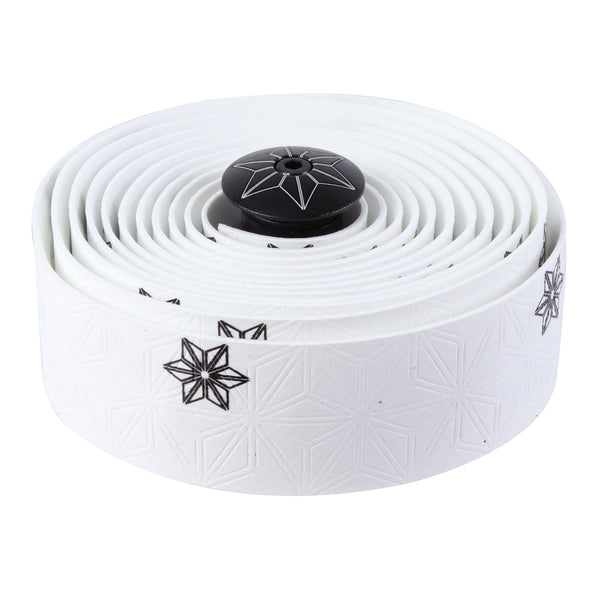 Supacaz Super Sticky Kush bar tape, Galaxy white w/black