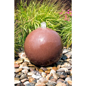 "Red Sandstone Sphere- 16"" dia"