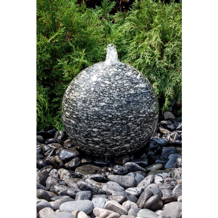 "Speckled Granite Sphere- 24"" dia"