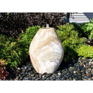 "Yellow Onyx Almond Fountain 30""H"