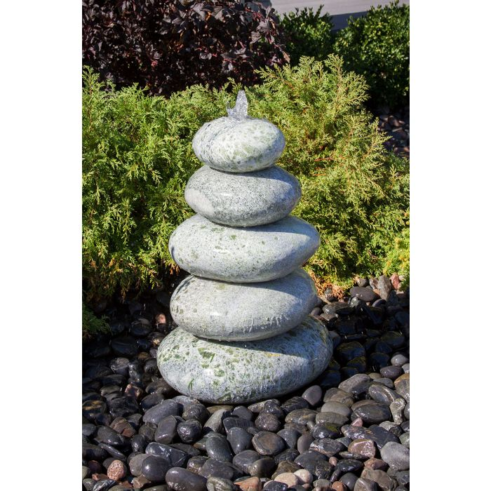 "Green Marble Cairn Fountain 30""H"
