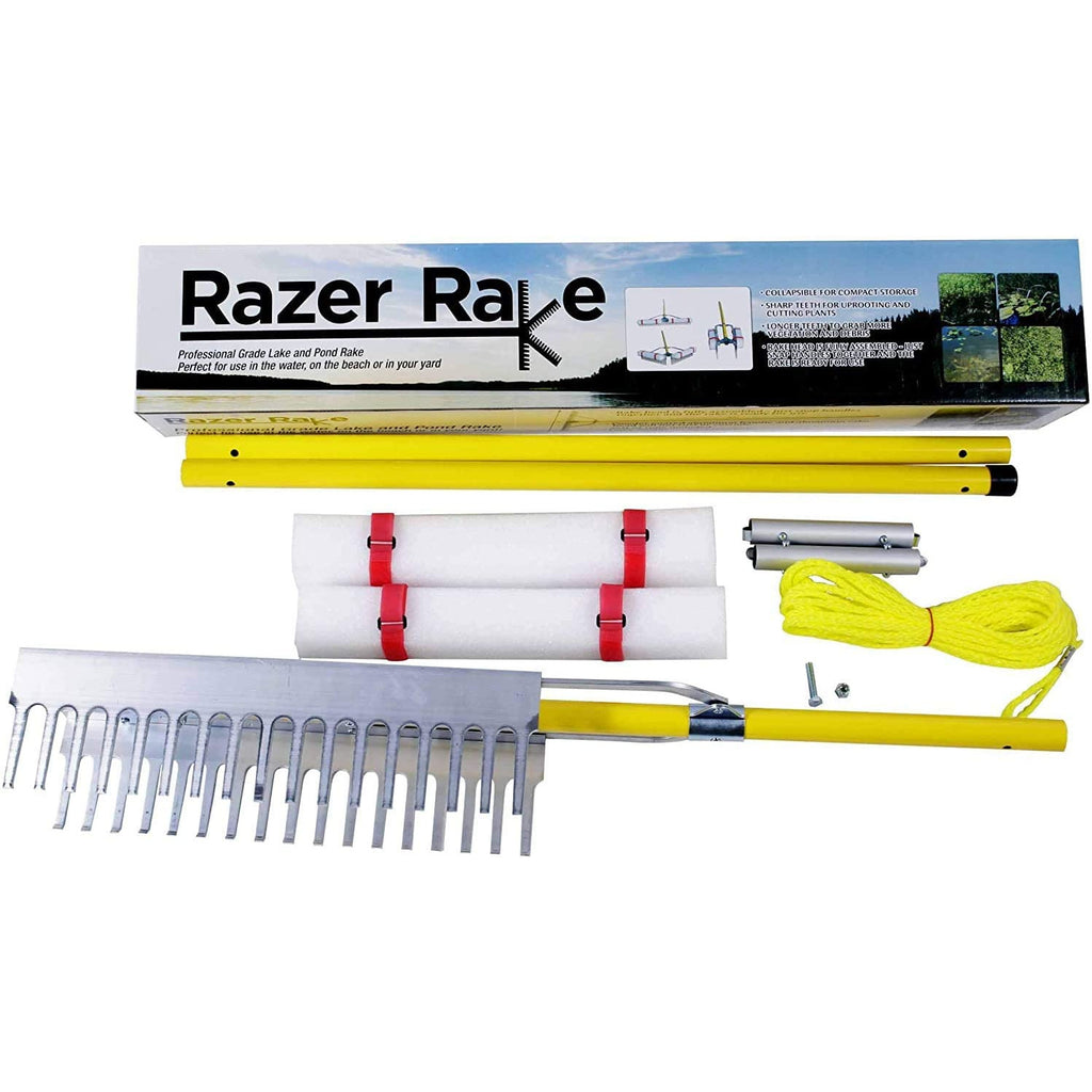 Razer Rake Collapsible, Easy storing, Lake & Landscape Rake
