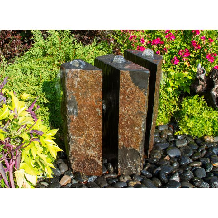 "3 Part Sliced Basalt 24""h Fountain Kit"