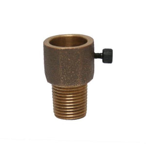 "Socket Transition Adapter from Unthreaded Receptacle to NPT 1/2"" Threaded Stud"