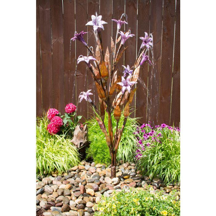 "Trumpet Flower Fountain Tree 54""H- Lilac- Complete Kit"
