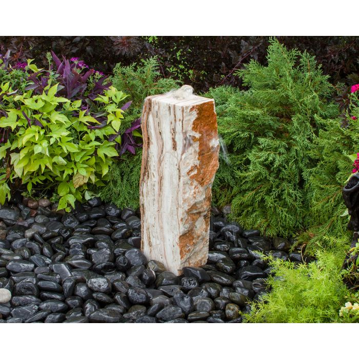 "Medium Travertine Basalt Fountain Kit- 24""h"