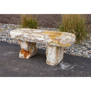 "Yellow Onyx Bench 16"" w x 48"" Long"