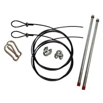 Fountain Mooring Kit ( 1 500' Cable Clamps and Stakes 2 each of Snap Hooks)