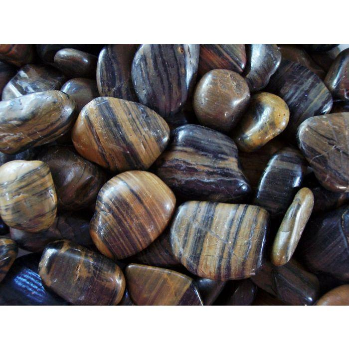 "Stripe Polished Pebbles 1-2"" (40# bag)"