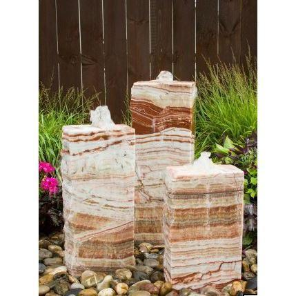 Red Onyx Fountain - 3 Sides Smooth - PondSupply.CA