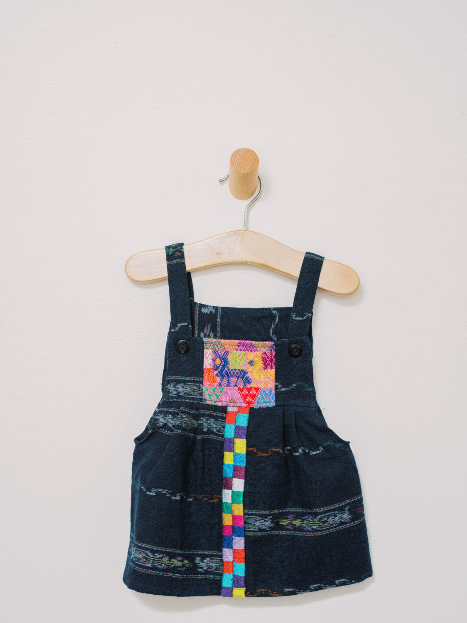 Maya Overall - Handmade, Embroidered Mexican Infant Dress - Chokolita