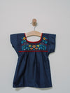Mini Puebla Top - Handmade, Embroidered Mexican Little Girl Dress - Chokolita