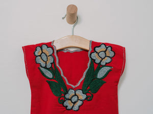 Zinacantan Top - Handmade, Embroidered Mexican Women Top - Chokolita