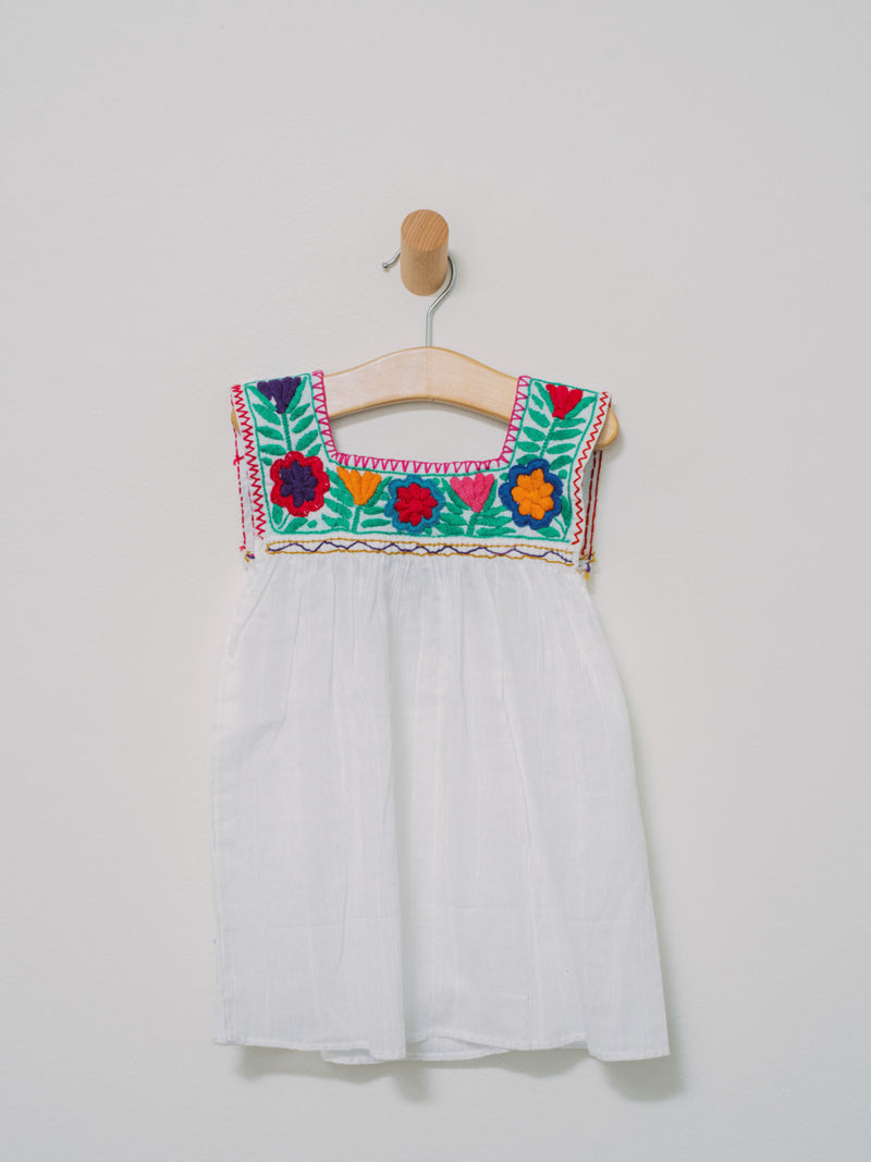 Little Chiapas Dress/Shirt - Handmade, Embroidered Mexican Little Girl Dress - Chokolita