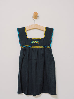 Little Chiapas Dress/Shirt (Size 3) - Handmade, Embroidered Mexican Little Girl Dress - Chokolita