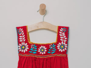 Little Chiapas Dress/Shirt (Size 4) - Handmade, Embroidered Mexican Little Girl Dress - Chokolita