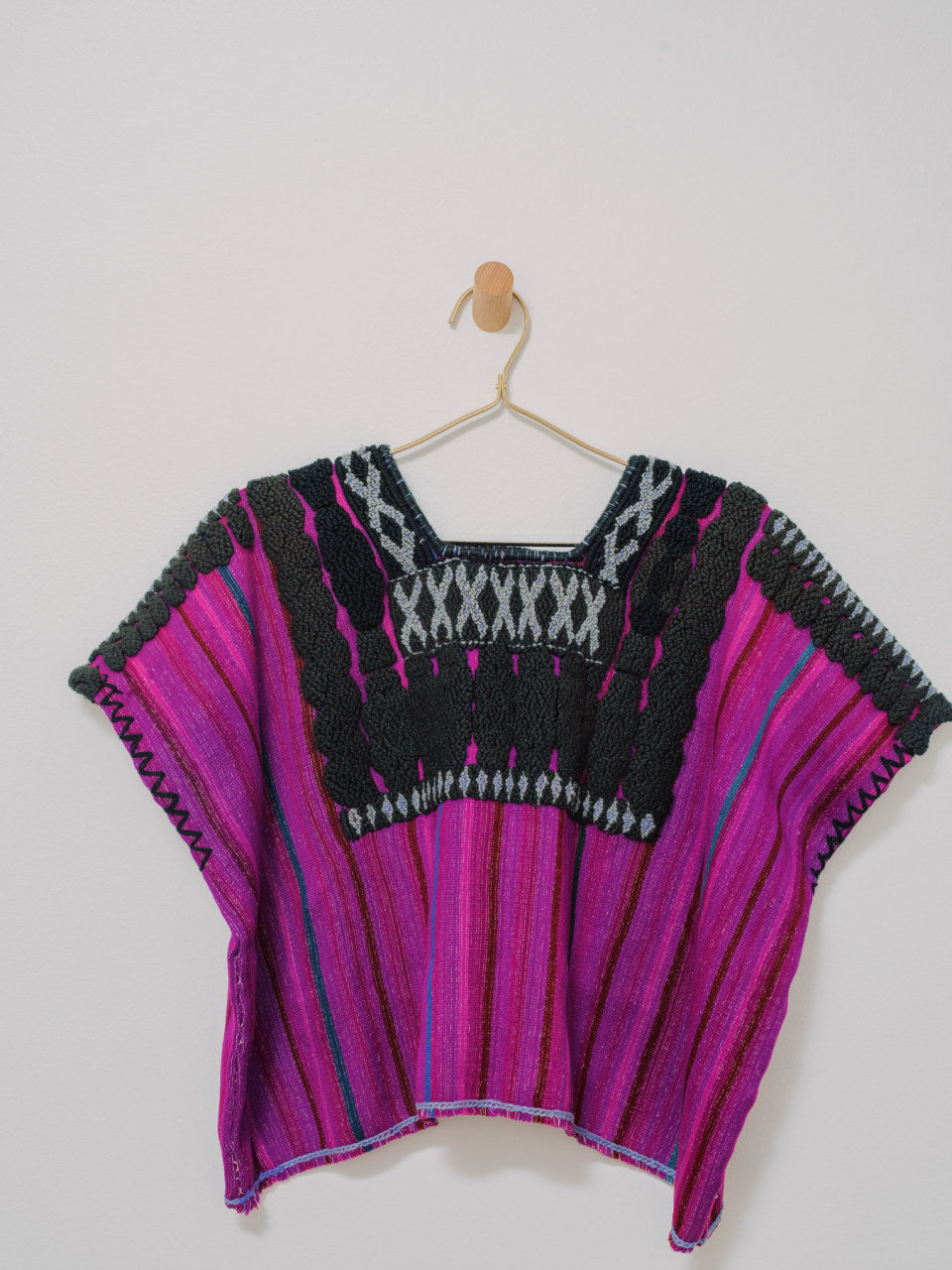 Huipil Chenalho - Handmade, Embroidered, Vintage Mexican Women Top - Chokolita
