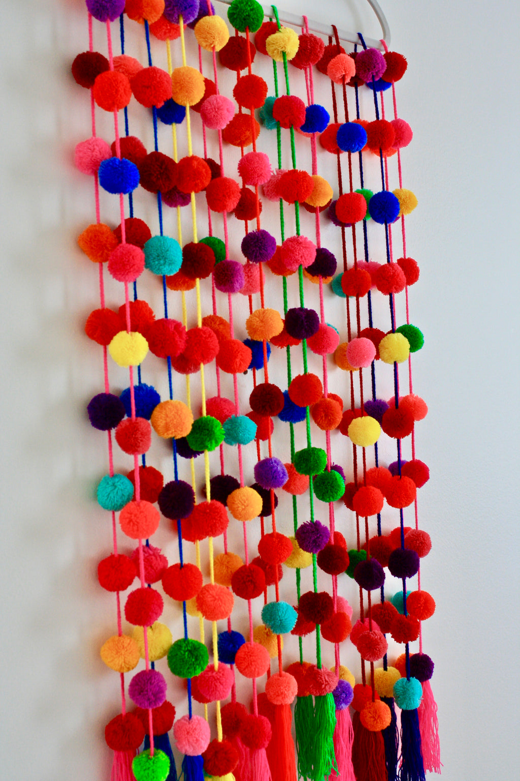 Pom Pom Garland (Multicolor) - Handmade Mexican Accessories - Chokolita