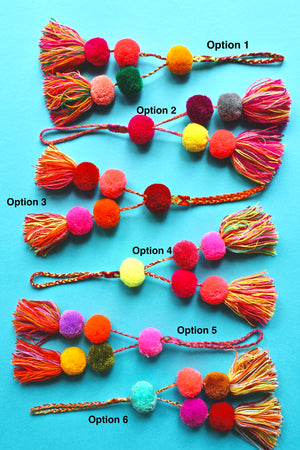 Pop Pom Bag Charms - Handmade Mexican Accessories - Chokolita