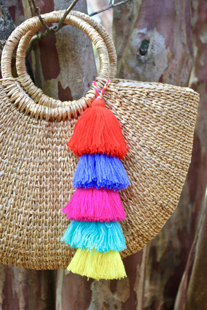 Tassel Bag Charm - Handmade Mexican Accessories - Chokolita