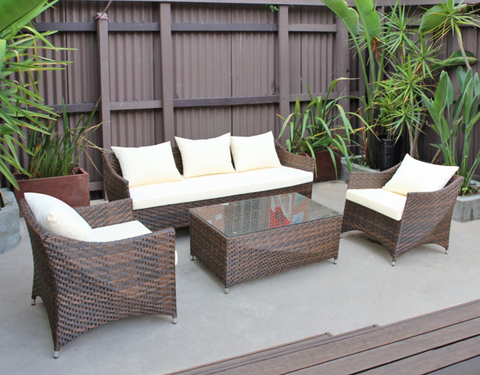 Outdoor Sofa with Coffee Table (3+1+1 Seaters)
