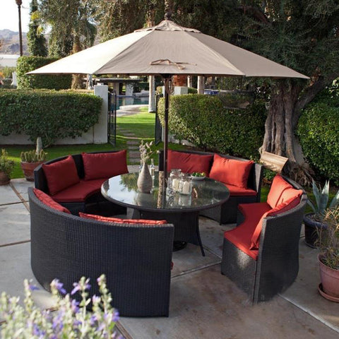 Round Sofa Dining Set (with parasol)