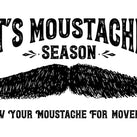 An artwork graphic showing a handlebar moustache with the words – It's Moustache Season – above it and the words – Grow Your Moustache For Movember – below it