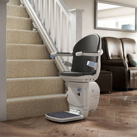 Companion straight stairlift at bottom of staircase