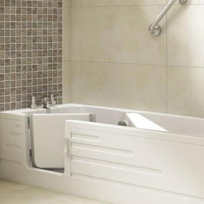 Companion walk-in bath installed in bathroom
