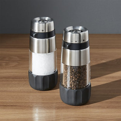 OXO stainless steel salt and pepper grinders