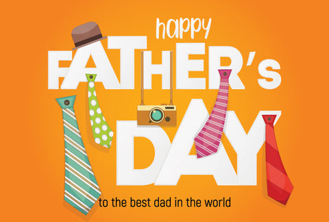 the image shows a Happy Father's Day poster