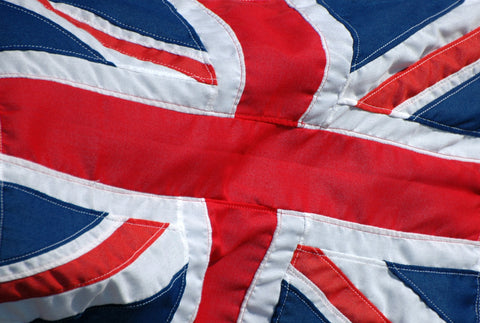 A close up of the British flag