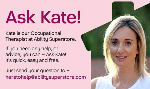 A title graphic for – Ask Kate – article