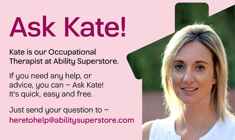this is the header for the dear kate mobility aid advice page