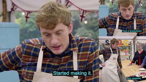 the images shows a gbbo meme