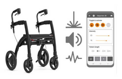 the image shows the rollz motion rhythm with the smartphone app
