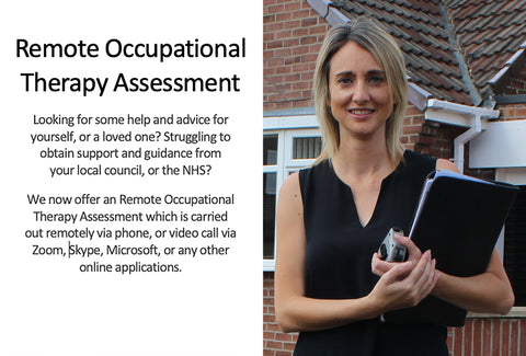 A picture of Ability's Occupational Therapist – Kate Makin – with some copy introducing the Remote Occupational Therapy Assessment