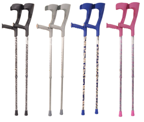 A picture of some Height Adjustable Crutches that are available for sale on the Ability Superstore website