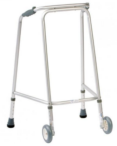 A picture of a Wheeled Walking Zimmer Frame that's available for sale on the Ability Superstore website