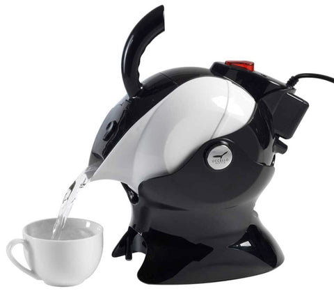 The Uccello Kettle in its original colours of black and white