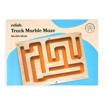 the image shows the track marble marble maze