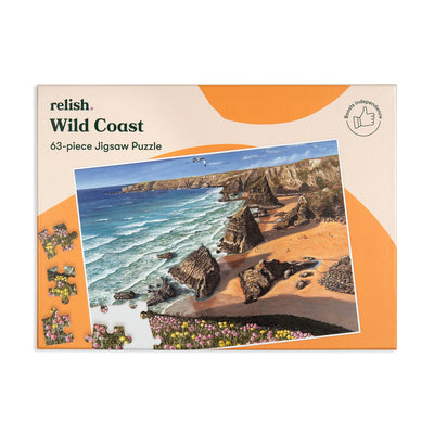the image shows the wild coast jigsaw puzzle box