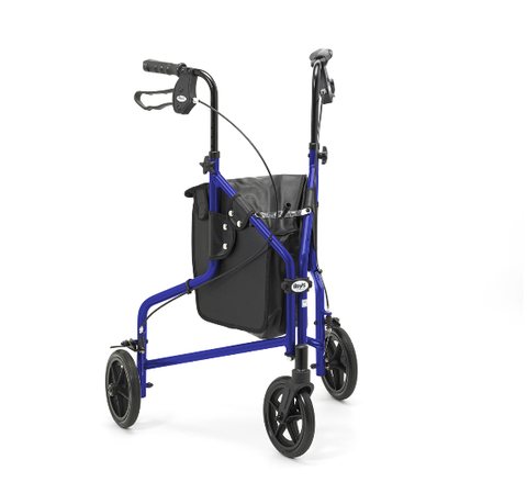Days Lightweight Blue Aluminium Tri Walker with Bag